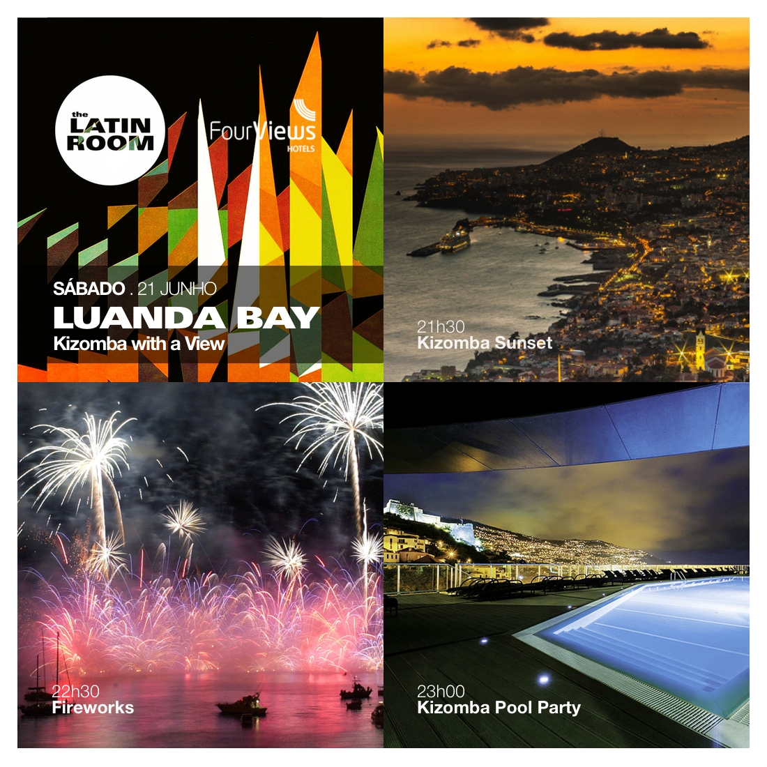 LUANDA BAY KIZOMBA PARTY Programa - Madeira, Funchal - Latin Room